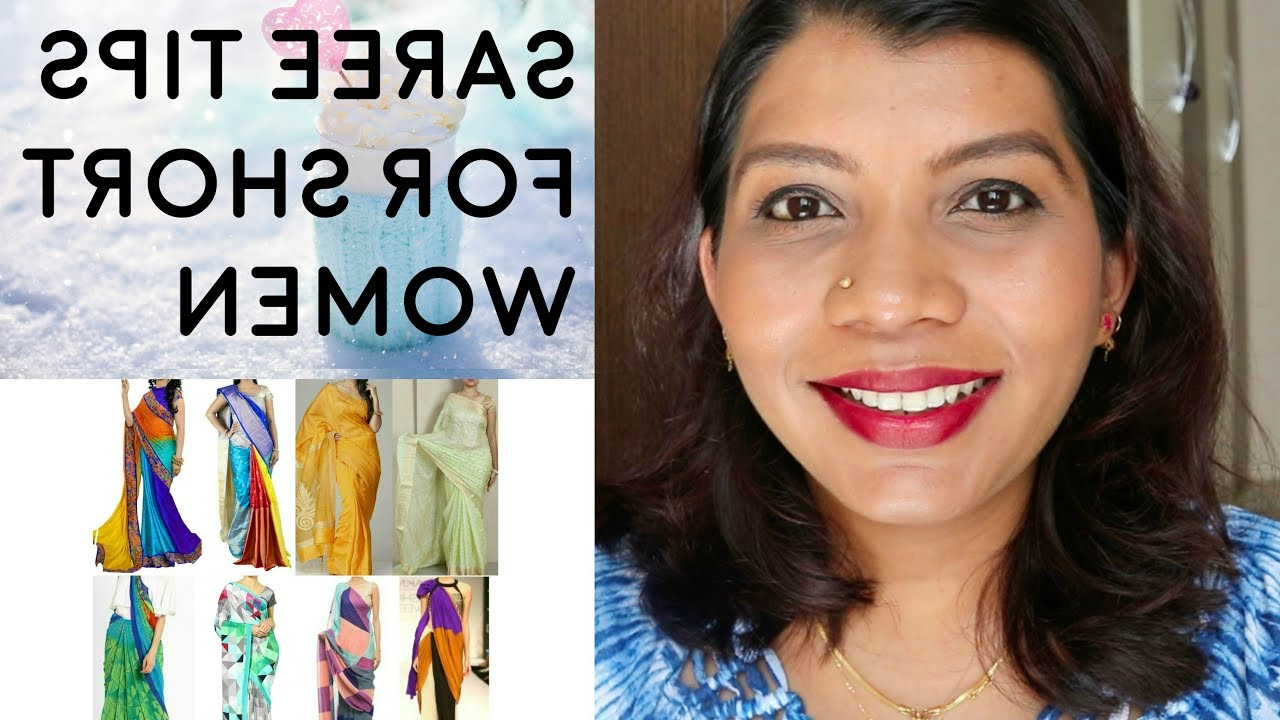 Saree Tips For Short Women | Best Sarees For Short And Plus Size With Regard To Short Haircuts For Tall Women (View 21 of 25)