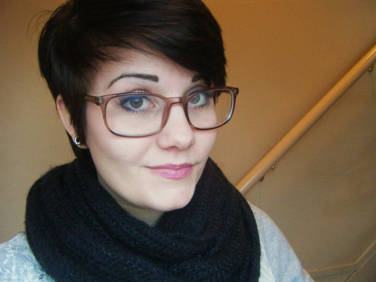 Seeing A Lot Of Asymmetrical Bangs For Glasses Wearers   Chop Chop In Short Haircuts For Glasses Wearer (View 3 of 25)