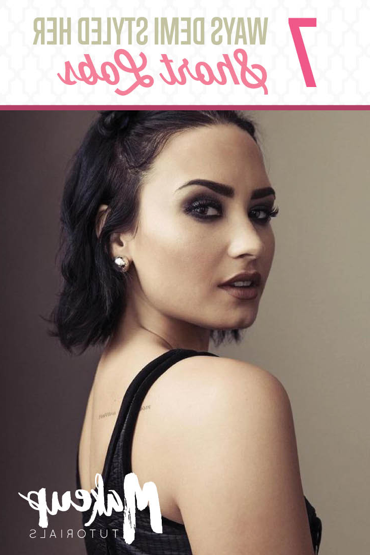 Seven Times Demi Lovato Nailed Her Bob Haircut – Estheticnet Pertaining To Demi Lovato Short Haircuts (View 12 of 25)