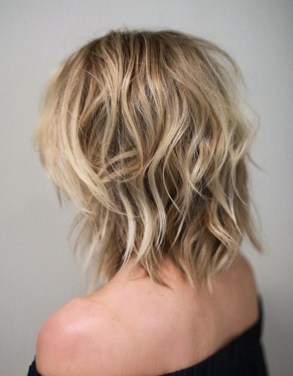 Shag Haircuts And Hairstyles In 2018 — Therighthairstyles Inside Disheveled Burgundy Brown Bob Hairstyles (View 11 of 25)