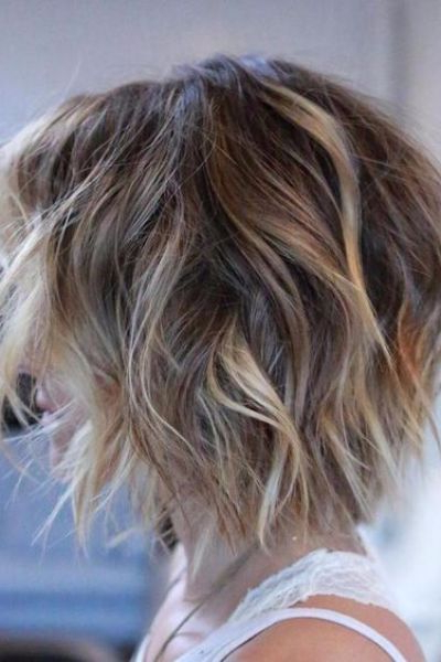 Shaggy Layered Bob For Thin Hair | Hairstyles In 2018 | Pinterest With Messy Jaw Length Blonde Balayage Bob Haircuts (View 12 of 25)