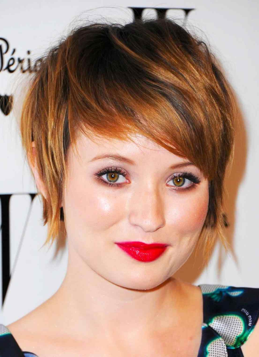 Shape Best Medium Length Edgy Haircuts For Round Faces Short For Flattering Short Haircuts For Fat Faces (View 7 of 25)