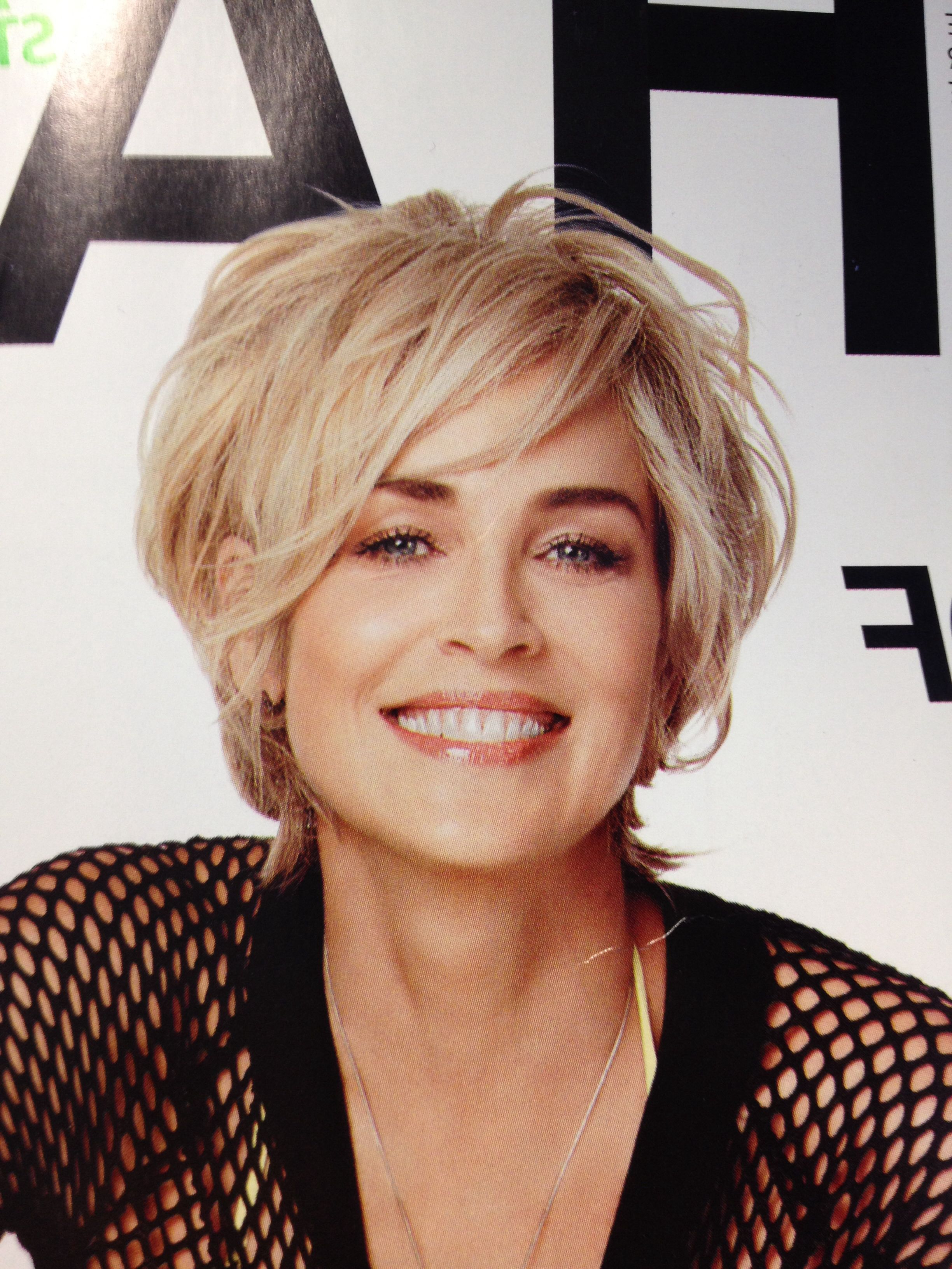 Sharon Stone At 56 I Like Her Hair Color And Style | Hair In 2018 Regarding Sharon Stone Short Haircuts (View 25 of 25)