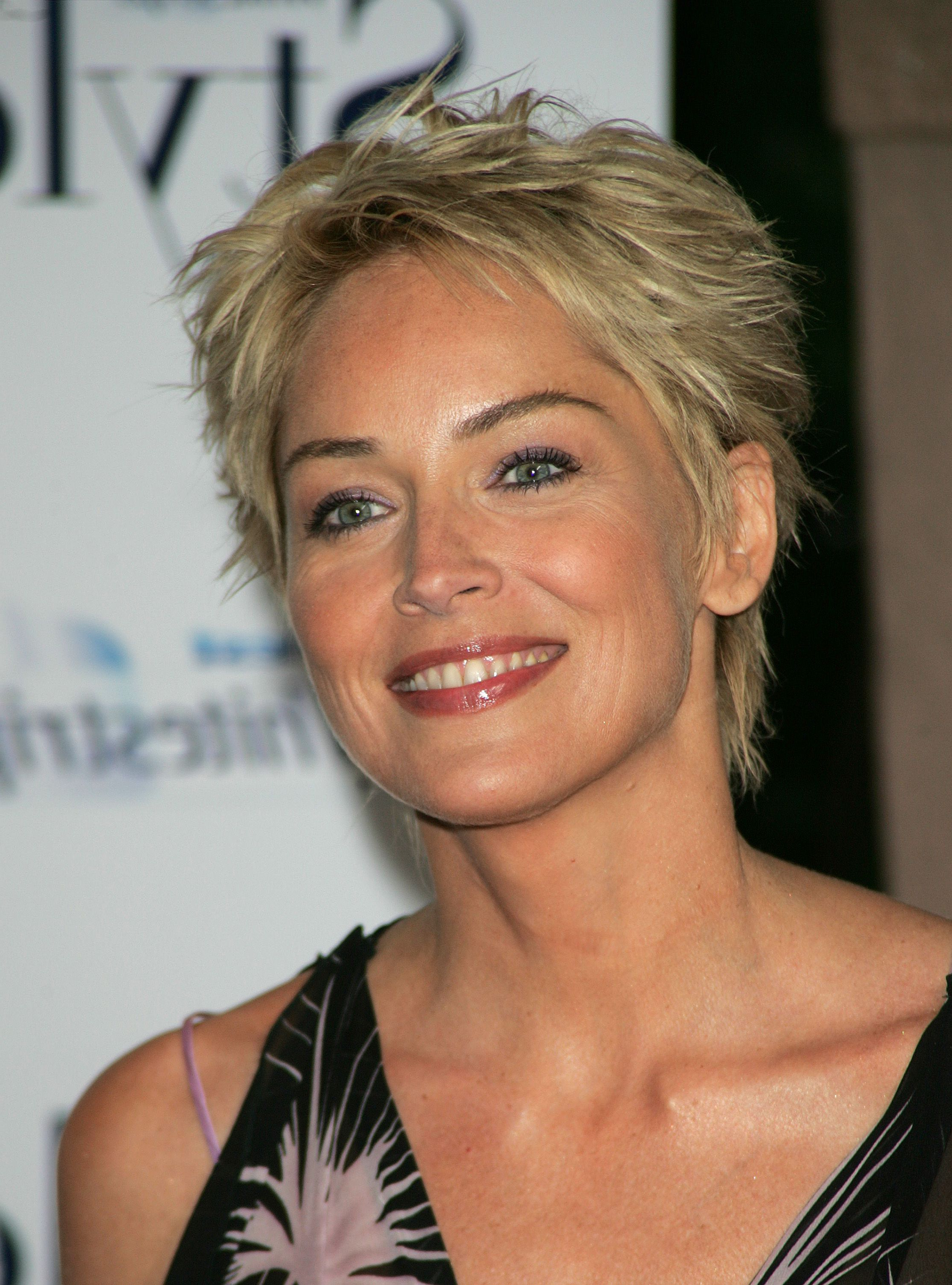 Sharon Stone Short Hairstyles – Hairstyle For Women & Man Within Sharon Stone Short Haircuts (View 12 of 25)