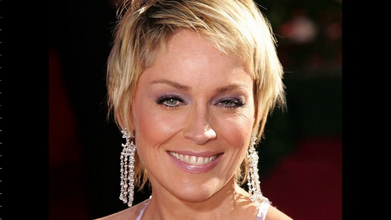 Sharon Stone Short Pixie Haircut – Youtube Within Sharon Stone Short Haircuts (View 7 of 25)