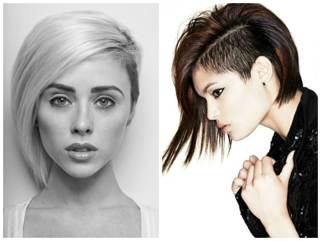 Shaved Side Asymmetrical Bob The One On The Right! Love (View 4 of 25)