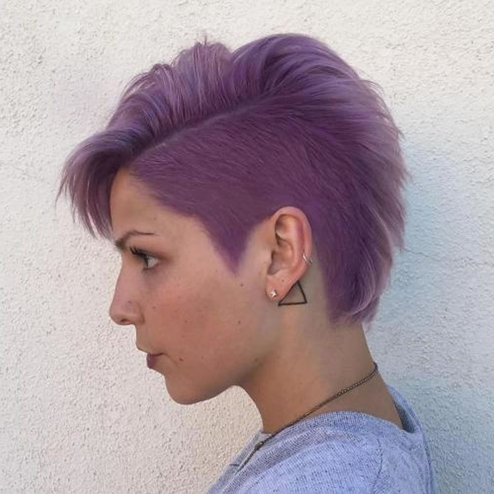 Shaved Sides Haircut For Girls Short Short Hairstyles : Cool Short Within Short Haircuts With Shaved Sides (View 23 of 25)