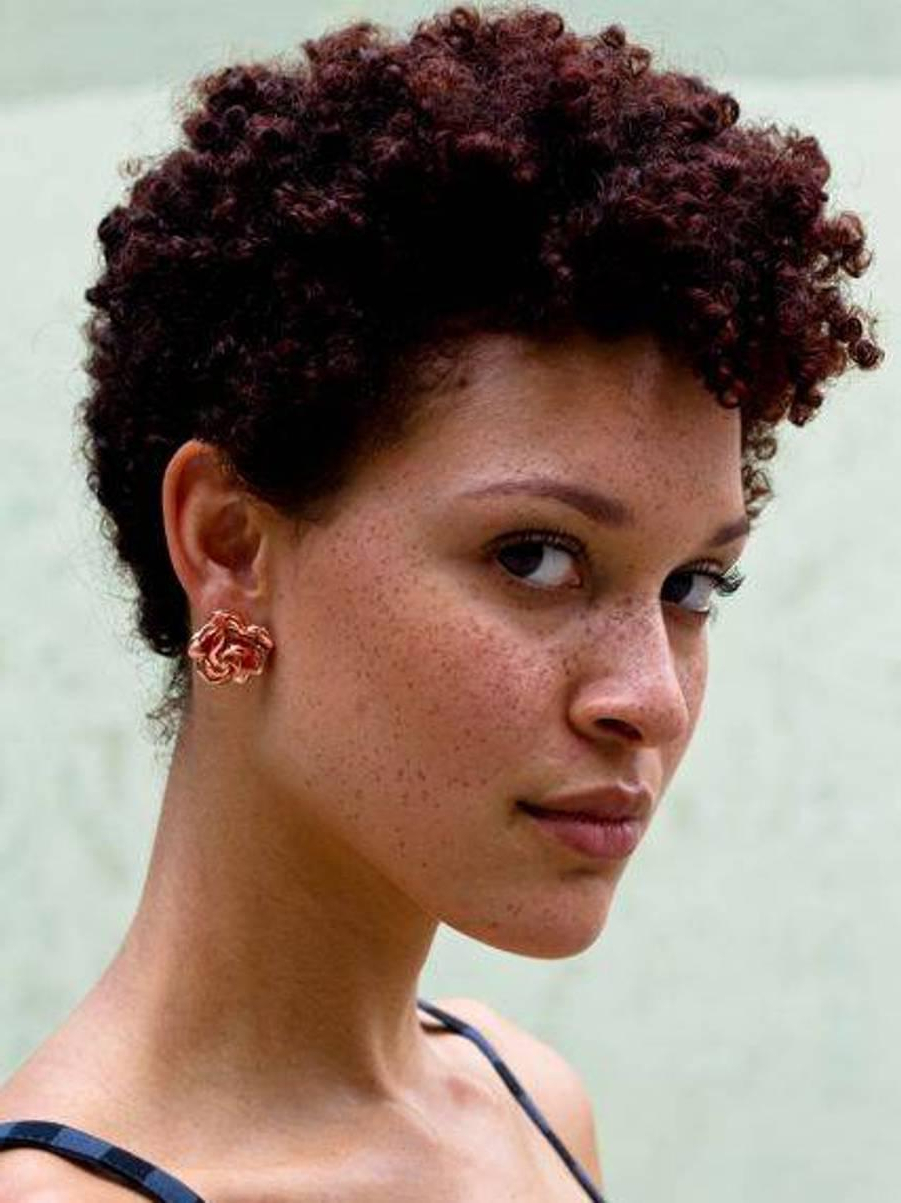 Short Afro Hairstyles – Leymatson In Afro Short Hairstyles (View 8 of 25)