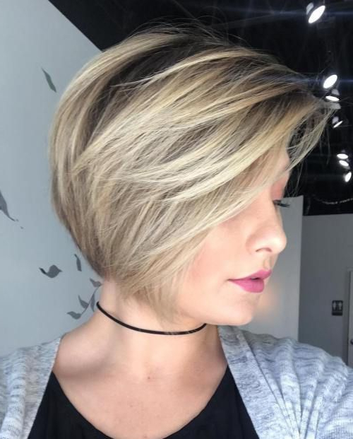 Short Ash Blonde Bob With Feathered Bangs | Long Pixie Or Short Bob Intended For Ash Blonde Bob Hairstyles With Feathered Layers (View 3 of 25)