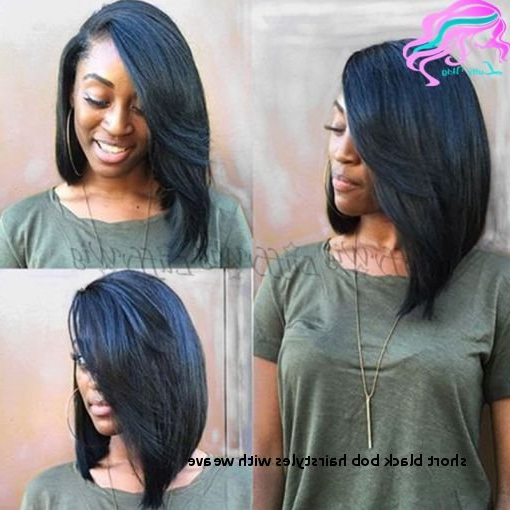 Short Black Bob Hairstyles With Weave Quick Weave Bob Hairstyles In Side Parted Asymmetrical Gray Bob Hairstyles (View 11 of 25)