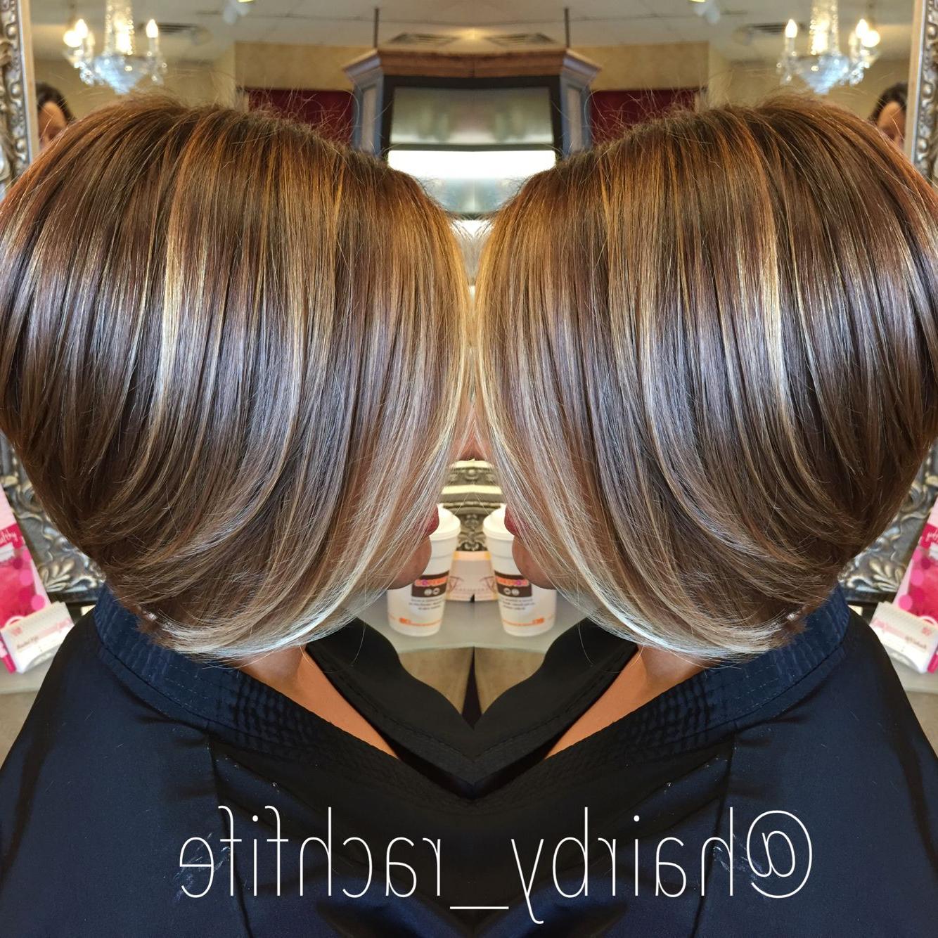 Short Bob Haircut With Subtle Balayage Highlights (View 13 of 25)