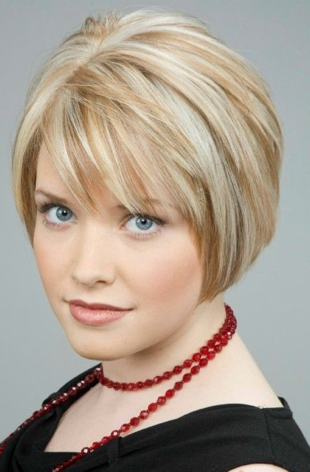 Short Bob Hairstyles With Bangs Over 50 In 2018 | Hair | Pinterest Within Rounded Tapered Bob Hairstyles With Shorter Layers (View 4 of 25)