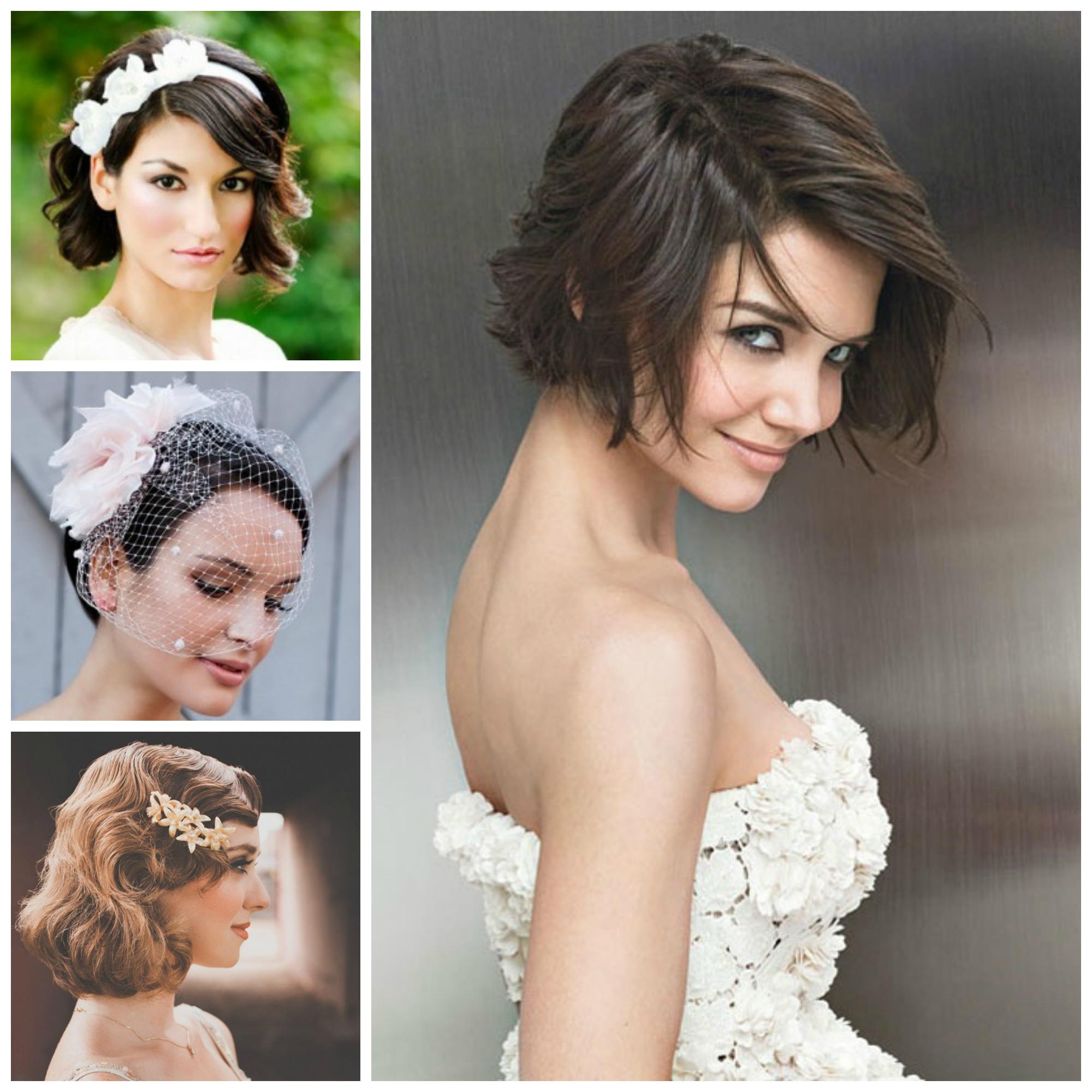 Short Bridal Hairstyles – Leymatson Pertaining To Bridal Hairstyles Short Hair (View 13 of 25)