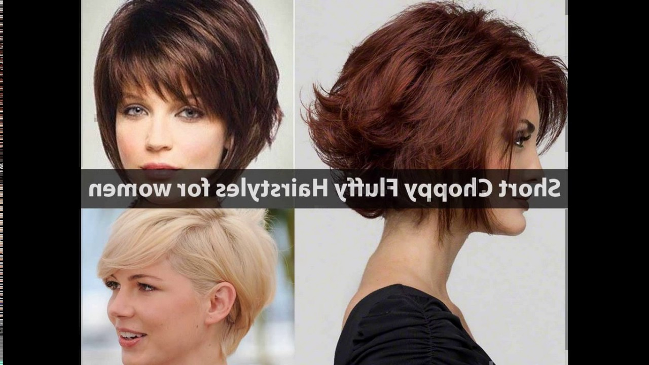 Short Choppy Layered Haircuts For Round Faces – Youtube Intended For Choppy Short Hairstyles (View 18 of 25)