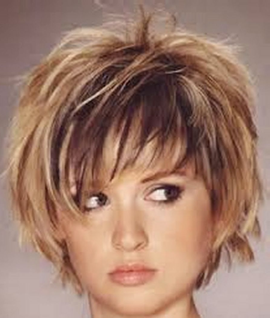 Short Choppy Layered Hairstyles With Bangs – Google Search | Today's Regarding Choppy Short Haircuts (View 8 of 25)