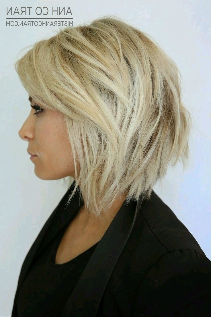 Short Choppy Stacked Blonde Bob With Lowlights And Texture Pertaining To Short Choppy Layered Bob Haircuts (View 7 of 25)