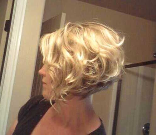 Short Curly Bob Hairstyles ~ Dejensever Inside Short Stacked Bob Blowout Hairstyles (View 25 of 25)