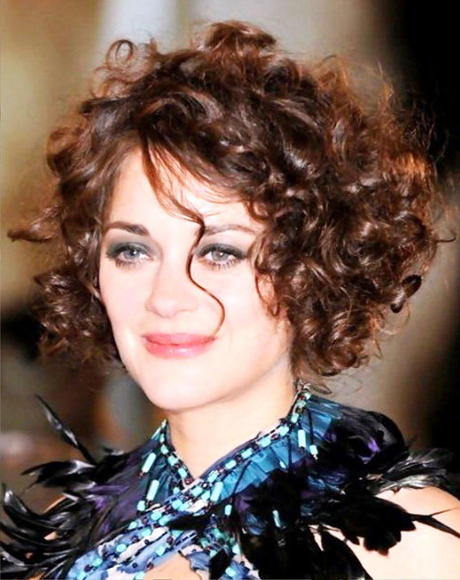 Short Curly Bob Hairstyles For Round Face : The Short Curly For Natural Short Hairstyles For Round Faces (View 15 of 25)