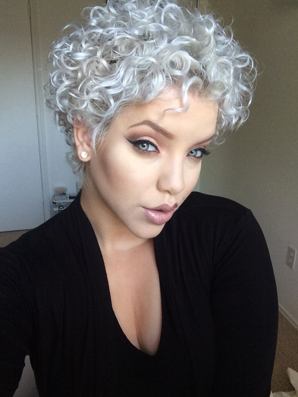 Short Curly Gray Hair (View 10 of 25)