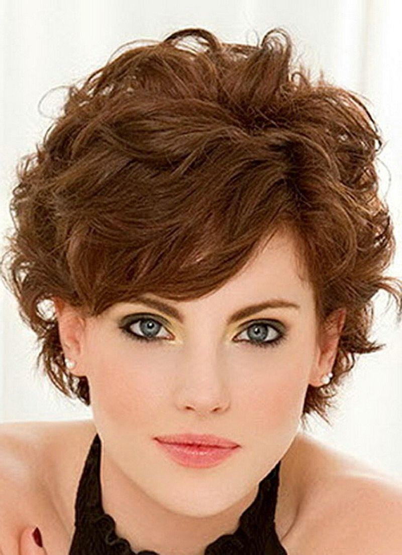 Short Fine Curly Hair Haircuts Short Hairstyles For Fine Wavy Hair Pertaining To Tapered Brown Pixie Hairstyles With Ginger Curls (View 13 of 25)