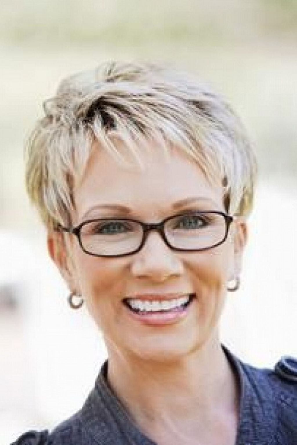 Short Gray Hairstyles For Women | Pictures Gallery Of Picture Of Throughout Short Hairstyles For Glasses Wearers (View 5 of 25)