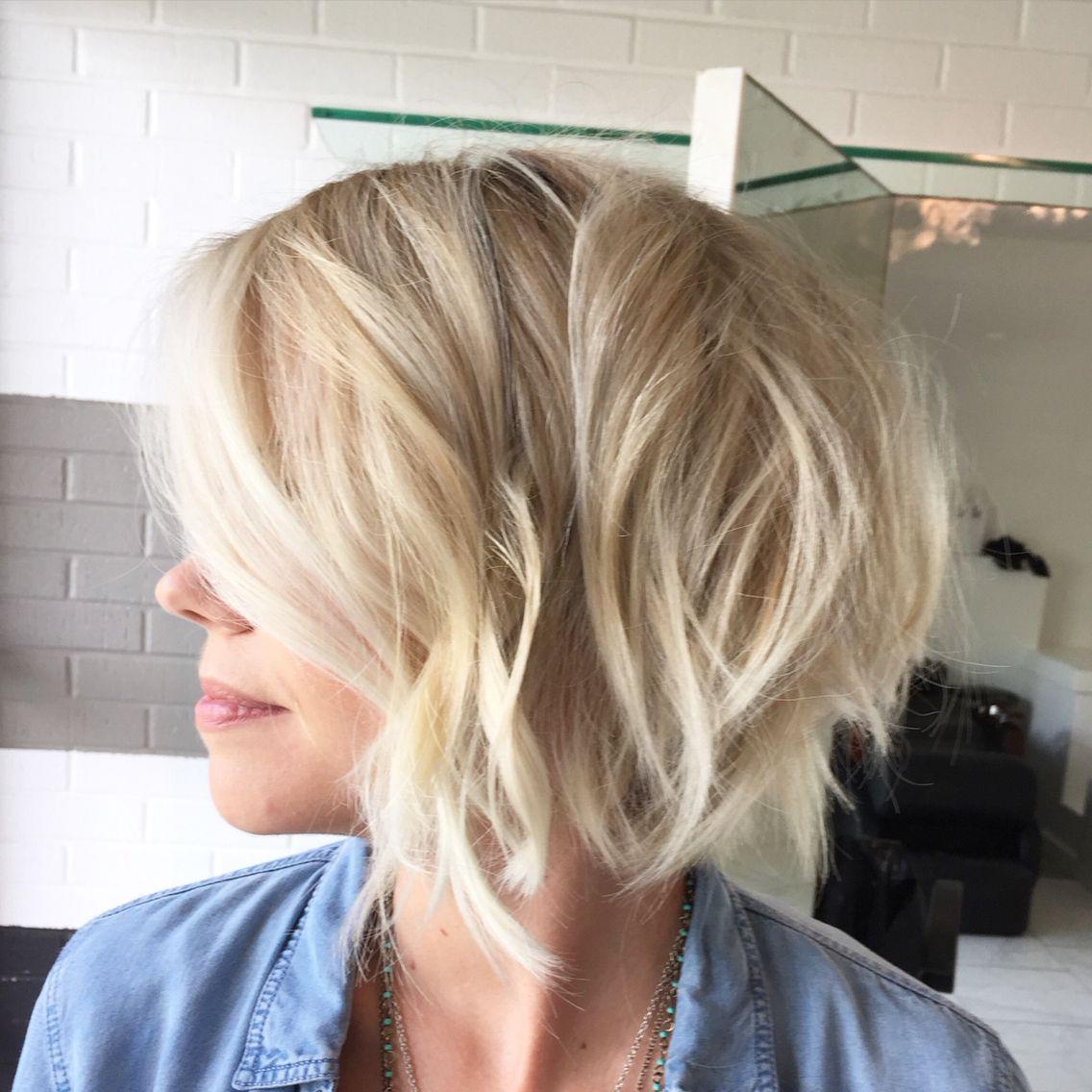 Short Hair Cut Textured Bob Blonde Hair Low Maintenance Hair Color With Regard To Easy Maintenance Short Haircuts (View 18 of 25)