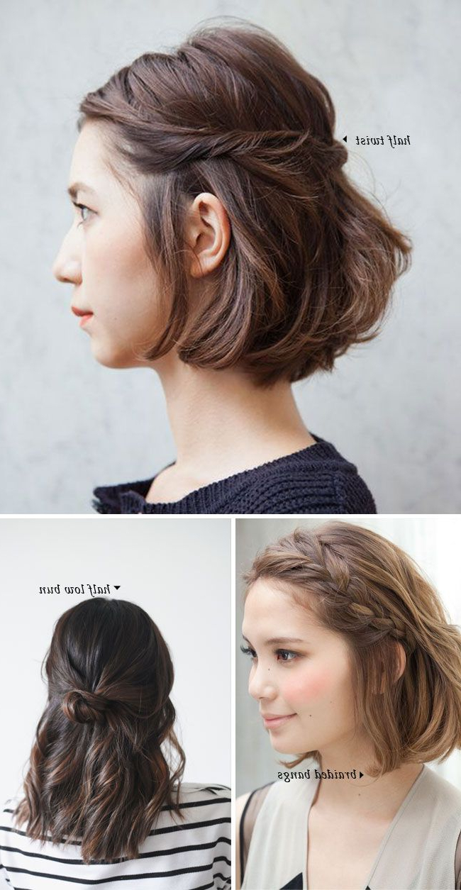 Short Hair Do's / 10 Quick And Easy Styles | Style And Pretty Hair With Regard To Half Long Half Short Haircuts (View 13 of 25)