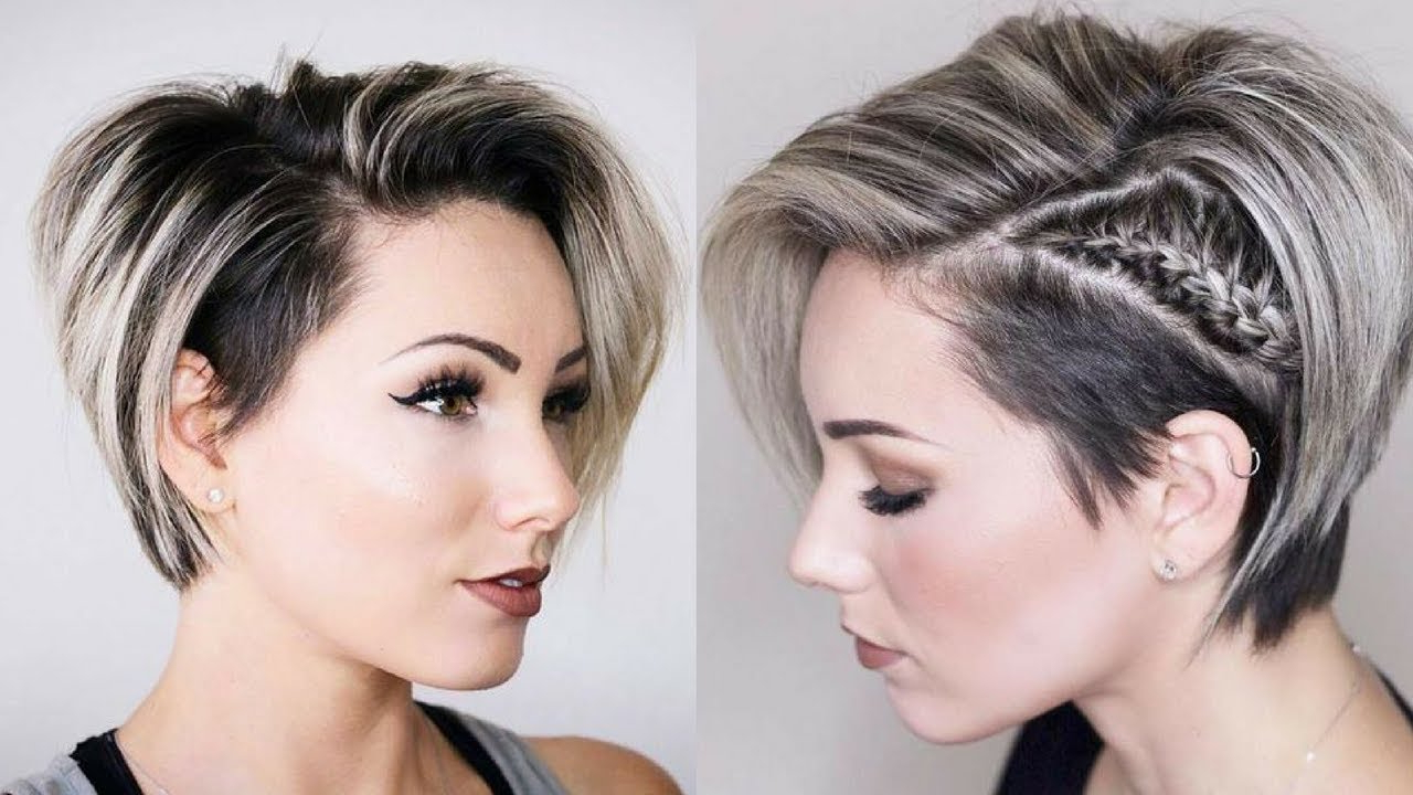 Short Hair Ideas For Summer 2018 – Youtube With Summer Short Haircuts (View 18 of 25)