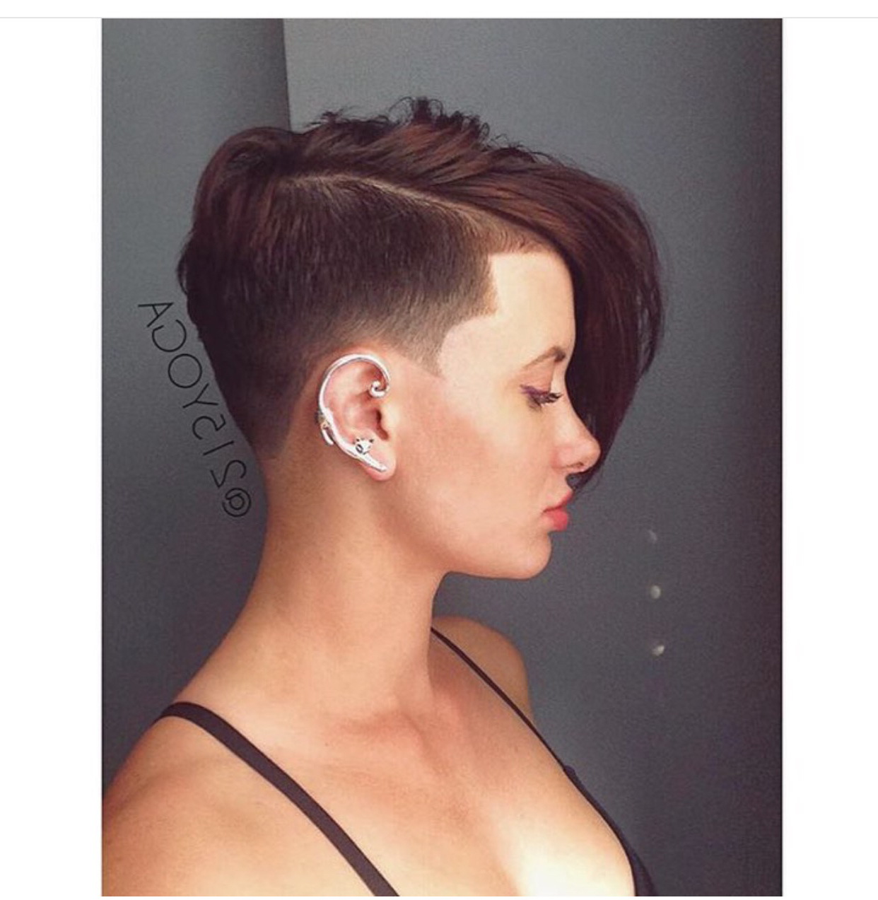 Short Hair Shaved Side Short Hair Cuts Women Pinterest – Lamidieu Pertaining To Shaved Side Short Hairstyles (View 25 of 25)