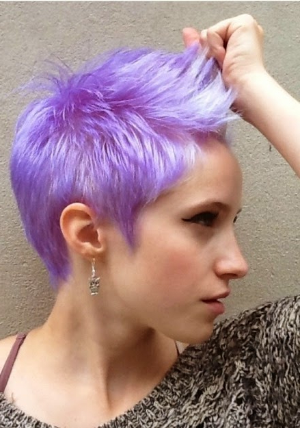 Short Hair Special: Lavender Pixie Haircuts! – The Haircut Web Intended For Lavender Haircuts With Side Part (View 2 of 25)