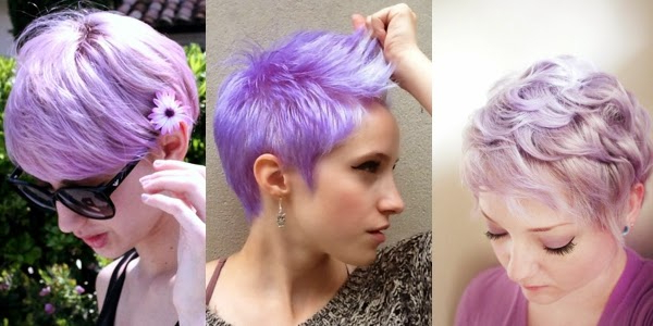 Short Hair Special: Lavender Pixie Haircuts! – The Haircut Web Throughout Lavender Haircuts With Side Part (View 4 of 25)