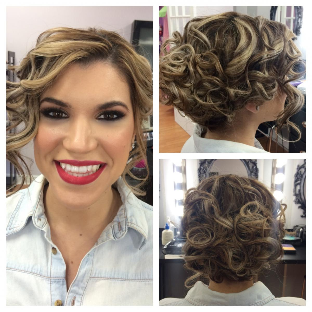 Short Hair Style Wedding Bridal Makeup Bridesmaid Hairstyles With Short Hairstyles For Weddings For Bridesmaids (View 17 of 25)