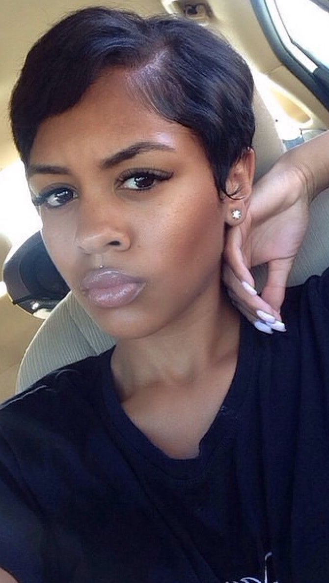 Short Hair Styles : Photo | Hairstyles In 2018 | Pinterest | Short Intended For Short Haircuts For Relaxed Hair (View 2 of 25)