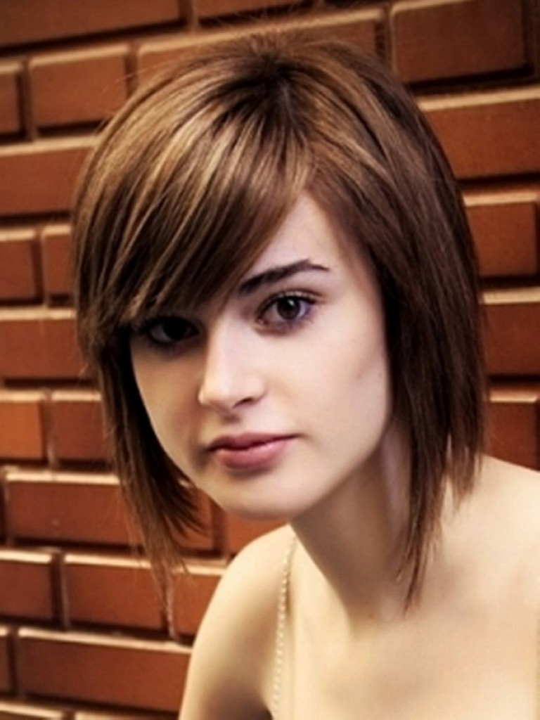 Short Hair Trend For Round Face Best Short Hairstyles Cute Hair For Short Haircuts For Big Face (View 8 of 25)