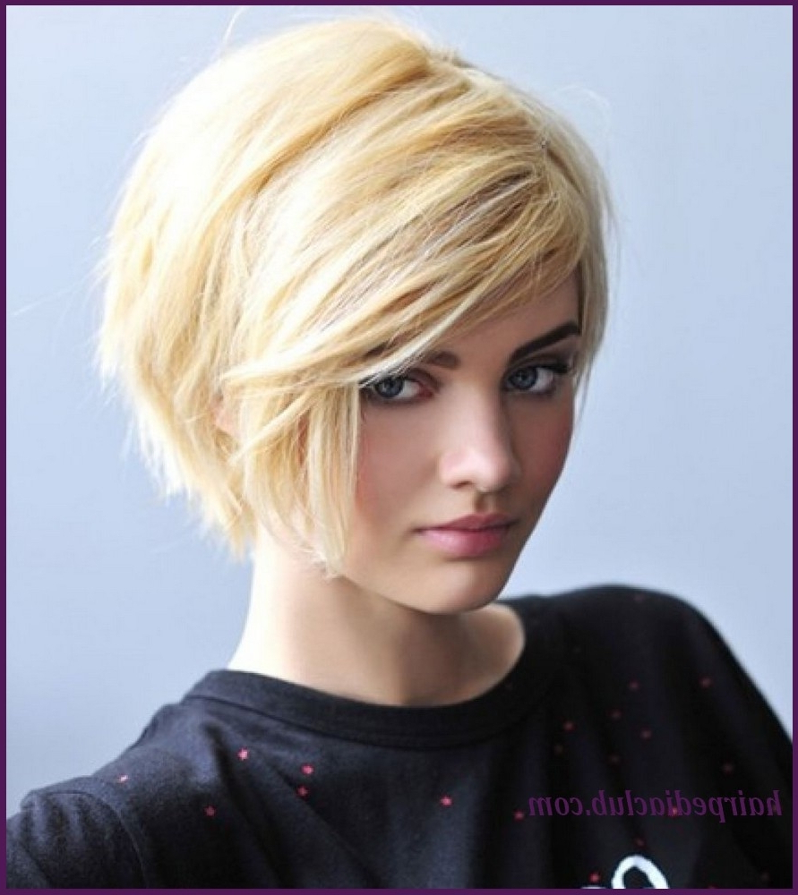 Short Haircut For Oval Face And Thick Hair – Wavy Haircut Within Short Hairstyles For Thick Hair And Long Face (View 22 of 25)