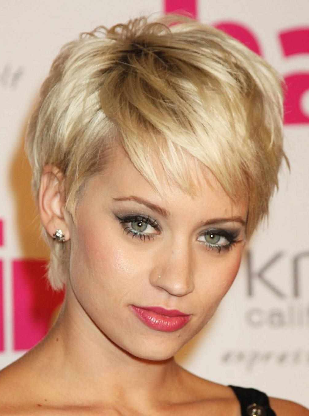 Short Haircut For Round Face Teen Girl Short Hair Teenage Girls Intended For Short Hairstyles For Teenage Girls (View 13 of 25)