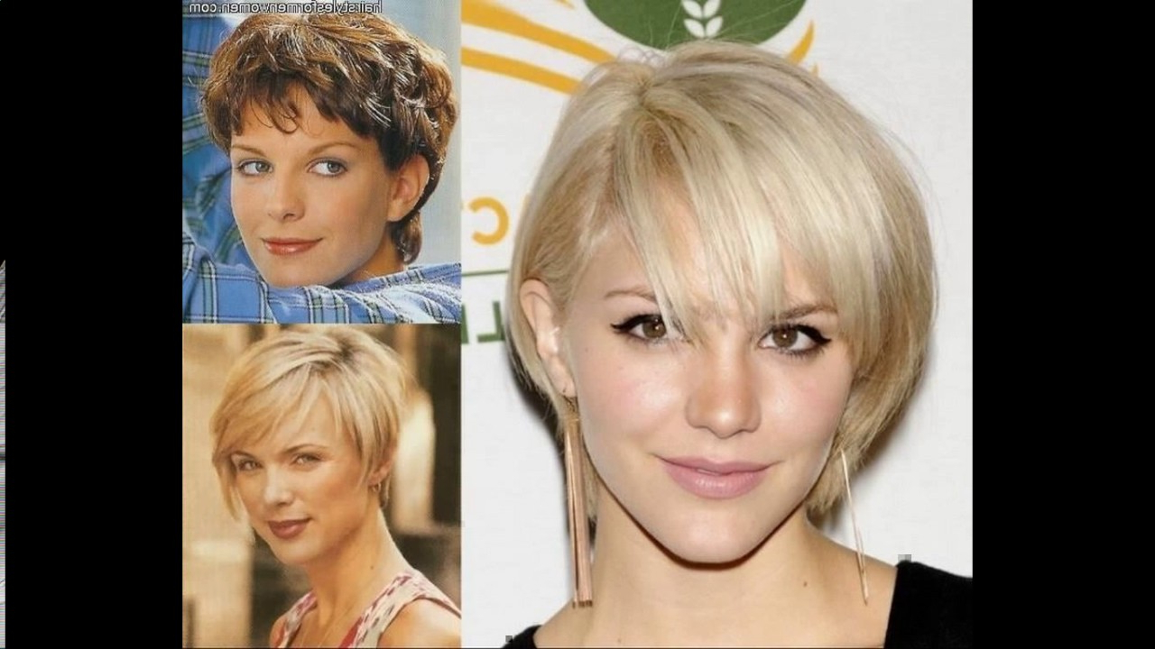 Short Haircut Square Face Fine Hair – Youtube Pertaining To Short Haircuts For Square Face (View 13 of 25)