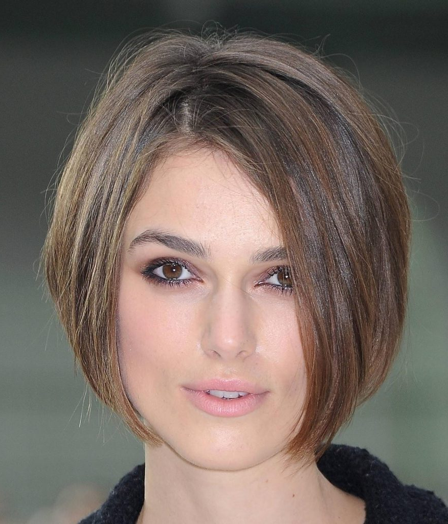 Short Haircut Styles : Short Haircuts Round Face Fine Hair Beautiful Inside Medium Short Hairstyles Round Faces (View 12 of 25)