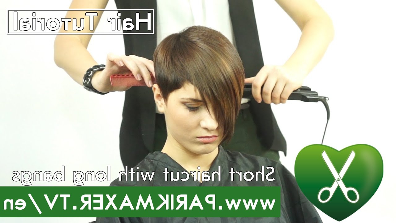 Featured Photo of Very Short Haircuts With Long Bangs