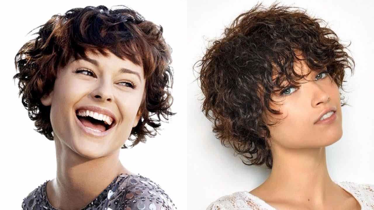 Short Haircuts Curly Hair Women Hairstyles 2018 – Youtube Inside Short Haircuts For Wavy Frizzy Hair (View 24 of 25)