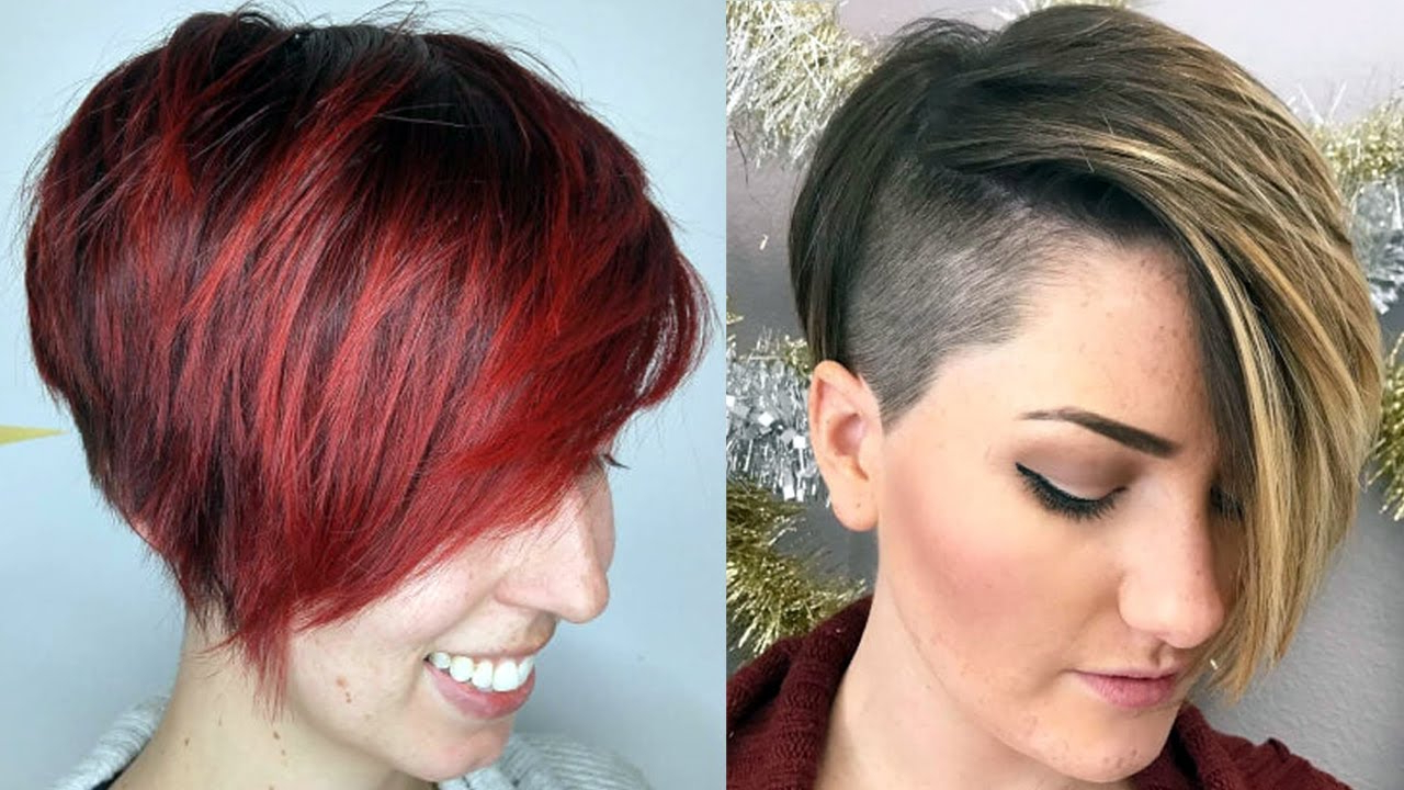 Short Haircuts For 2018 Women – New Short Haircuts 2018 – Youtube Throughout Short Female Hair Cuts (View 16 of 25)