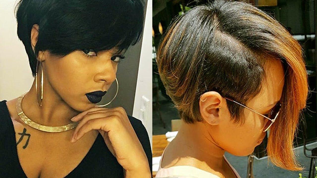 Short Haircuts For Black Women 2017 & Black Women's Haircuts Inside Black Woman Short Haircuts (View 17 of 25)