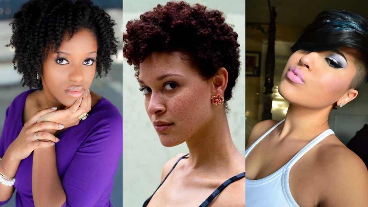 Short Haircuts For Black Women – Youtube Regarding Short Haircuts For Black (View 19 of 25)