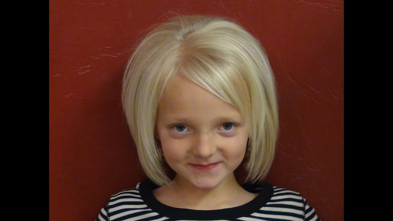 Short Haircuts For Little Girls – Short Hairstyles – Youtube For Kids Short Haircuts With Bangs (View 3 of 25)