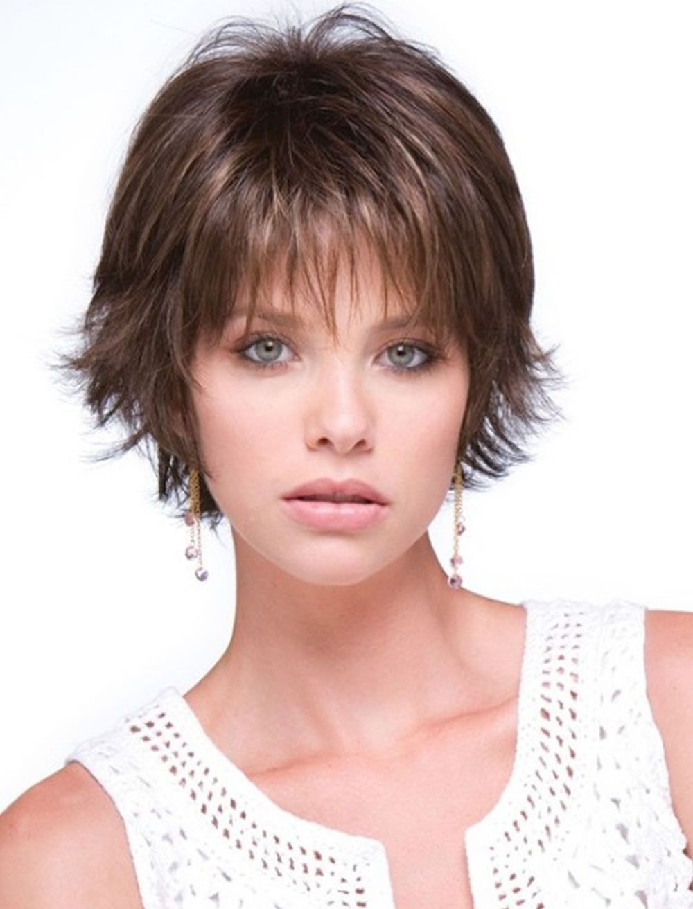 Short Haircuts For Round Face Thin Hair Ideas For 2018 Inspirational Regarding Short Haircuts For Round Chubby Faces (View 19 of 25)