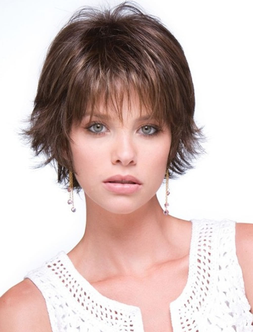 Short Haircuts For Round Face Thin Hair Ideas For 2018 – Page 4 Within Short Hairstyles For Chubby Face (View 14 of 25)