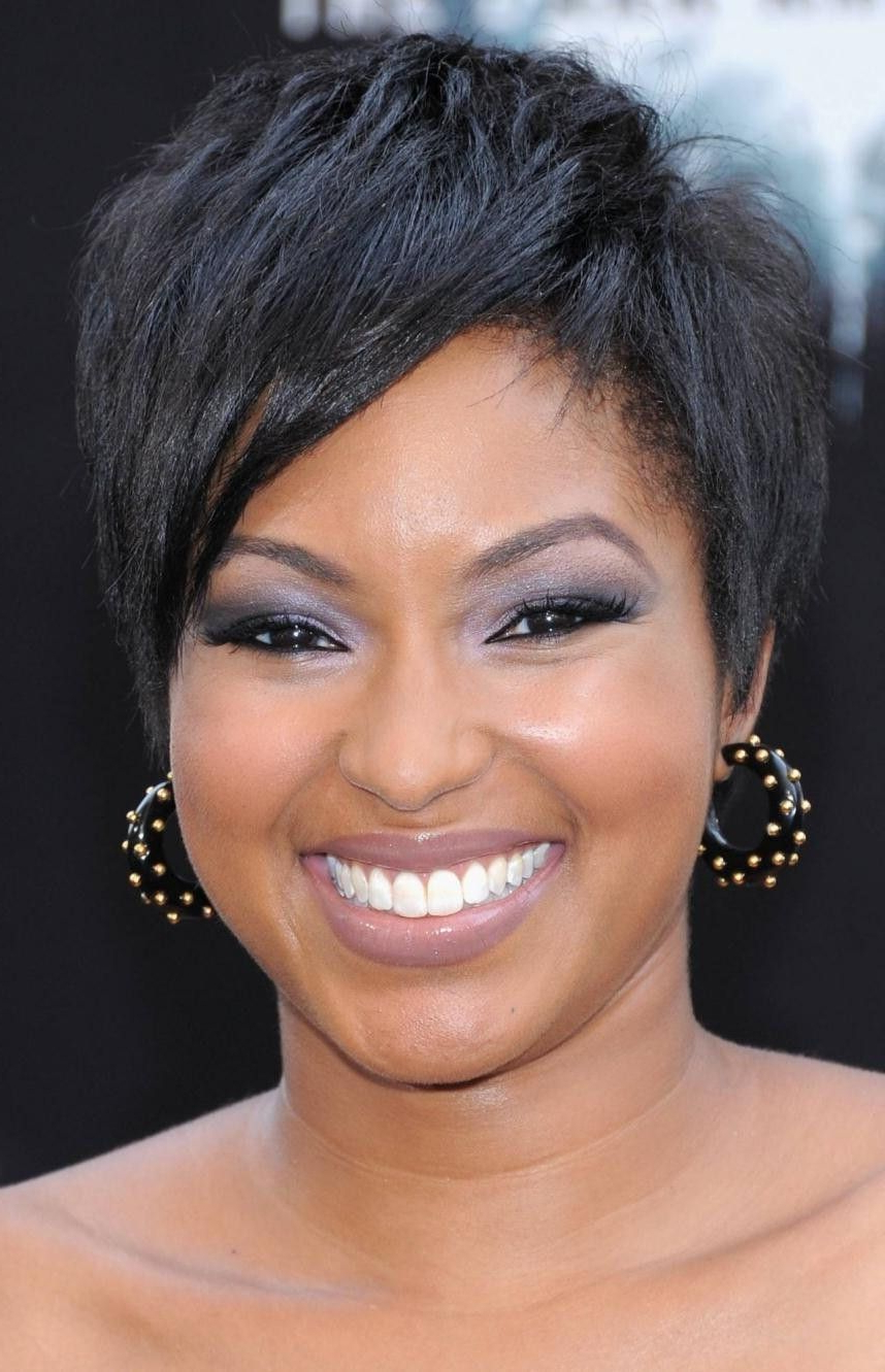 Short Haircuts For Round Faces 2015 | Haircuts Gallery | Pinterest In Short Haircuts For Round Faces Black Women (View 6 of 25)