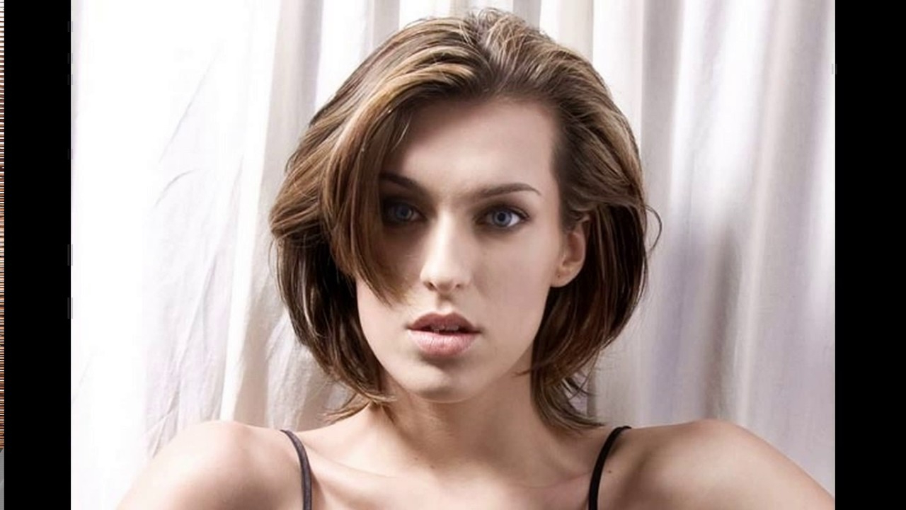 Short Haircuts For Thick Hair And Long Face – Youtube With Regard To Short Haircuts For Thick Hair Long Face (View 20 of 25)
