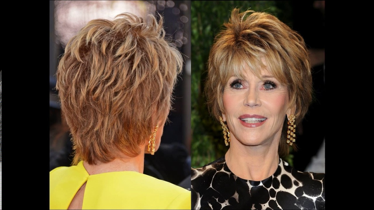 Short Haircuts For Women Front And Back View – Youtube With Regard To Older Lady Short Hairstyles (View 9 of 25)