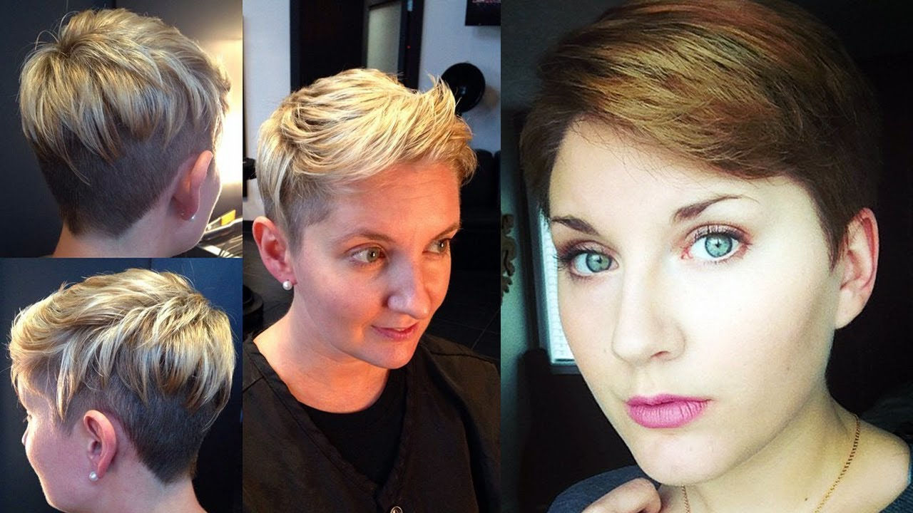 Short Haircuts For Women Over 40 2018 – Youtube Intended For Short Haircuts For Women Over  (View 13 of 25)